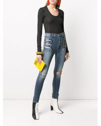 Jeans skinny Triple Zip di Unravel Project in Blue