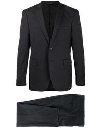 Полосатый Костюм С Однобортным Пиджаком Tonello для него, цвет: Black