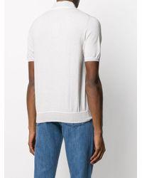 メンズ Canali スリムフィット ポロシャツ White