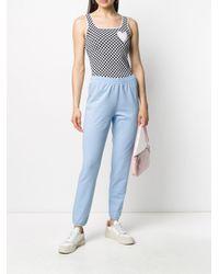 Love Moschino Blue Logo Track Pants