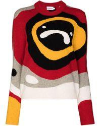 CHARLES JEFFREY LOVERBOY 50th Sad Echo インターシャ セーター Multicolor