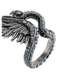 Lanvin - Metallic Swan Ring - Lyst