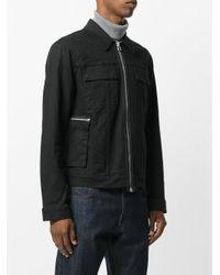 Helmut Lang - Black Zip Up Biker Jacket for Men - Lyst