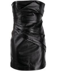 Manokhi Black Pleated Mini Dress