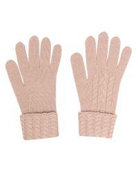 Кашемировые Перчатки Фактурной Вязки N.Peal Cashmere, цвет: Multicolor