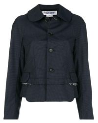 Button-down fitted jacket di Comme des Garçons in Blue