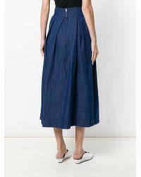 Department 5 Blue Full Midi Skirt