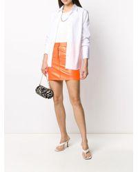 Manokhi レザー ミニスカート Orange