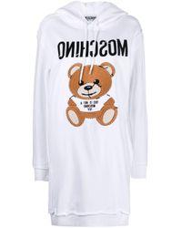 Платье-худи С Нашивкой Teddy Bear Moschino, цвет: White