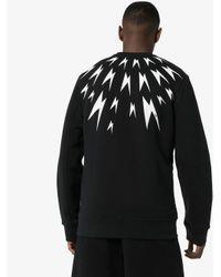 Neil Barrett Black Meteorites Lightning Print Sweatshirt for men