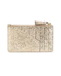 Anya Hindmarch Metallic Smiley Zipped Card Key Case