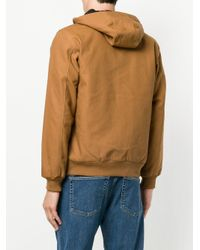Carhartt Brown Zipped Hooded Jacket for men