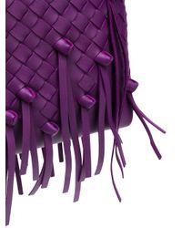 Bottega Veneta Purple Intrecciato Bag