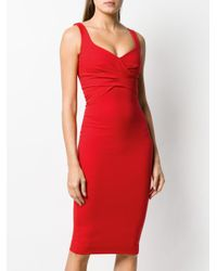 DSquared² Red Fitted Sleeveless Dress