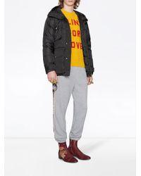 メンズ Gucci グッチ ストライプ ジョギングパンツ Gray