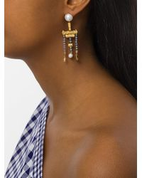 Lucy Folk Metallic Talking Heads Earrings