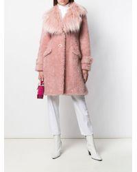 Elisabetta Franchi エコファー コート Pink