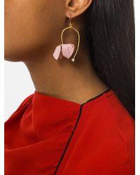 Marni - Multicolor Asymmetric Flower Earrings - Lyst
