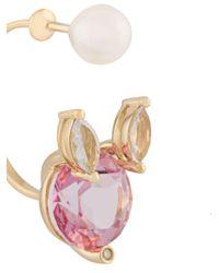 Delfina Delettrez ダイヤモンド装飾 ピアス Multicolor