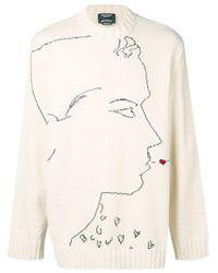 Maglione con stampa di CALVIN KLEIN 205W39NYC in Multicolor da Uomo