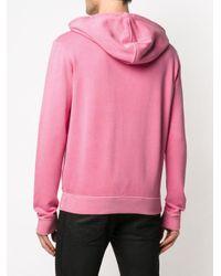 Толстовка С Капюшоном И Принтом Логотипа Saint Laurent для него, цвет: Pink