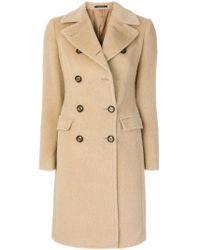 Manteau nervuré à boutonnière croisée Tagliatore en coloris Natural
