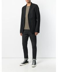 Rick Owens Drkshdw Black Single Button Blazer for men