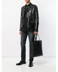 Сумка-тоут С Логотипом Saint Laurent для него, цвет: Black