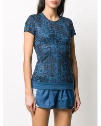 Adidas By Stella McCartney スネークスキンプリント Tシャツ Blue