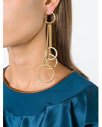 Marni - Metallic Rod And Hoop Drop Earrings - Lyst