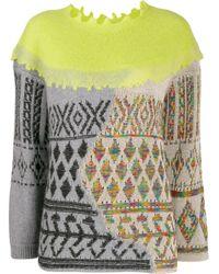 Antonio Marras Green Pullover im Materialmix
