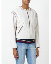 Étoile Isabel Marant White Buddy Jacket