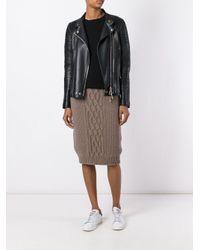 Agnona - Blue Knitted Skirt - Lyst