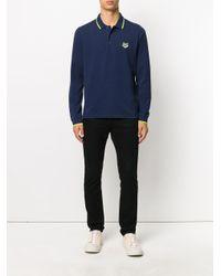 メンズ KENZO タイガー刺繍 ポロシャツ Blue