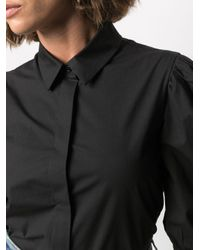 Boutique Moschino パフスリーブ シャツ Black