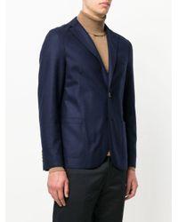 メンズ Eleventy クラシック テーラードジャケット Blue