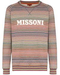 メンズ Missoni ロゴ スウェットシャツ Multicolor