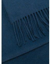 Pringle of Scotland フリンジスカーフ Blue