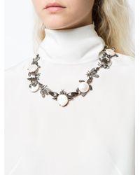 Oscar de la Renta - Gray Critters Necklace - Lyst