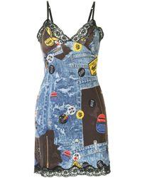 Vestito con design patchwork Pre-owned di Dior in Multicolor