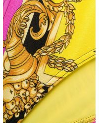 Versace Yellow Barocco Printed Bikini Bottoms