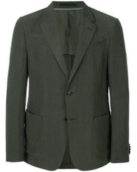 Z Zegna - Green Single Breasted Blazer for Men - Lyst