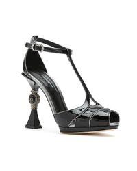 Dolce & Gabbana スカルプチャーヒール サンダル Black
