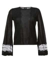 Giambattista Valli Black Bell-sleeve Sweater