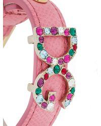 Dolce & Gabbana - Pink Dg Crystal Detail Bracelet - Lyst
