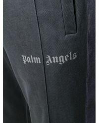 メンズ Palm Angels ロゴ トラックパンツ Black