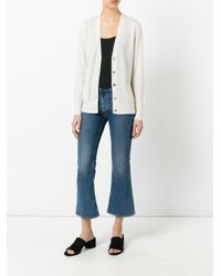 Cardigan Madeline di Tory Burch in White
