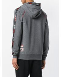 Philipp Plein Gray Fly High Hoodie for men