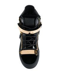 Giuseppe Zanotti - Black High Top Sneakers - Lyst