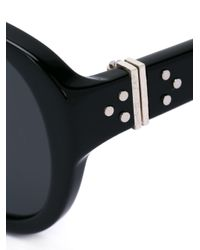 Linda Farrow Black Stud Detail Sunglasses